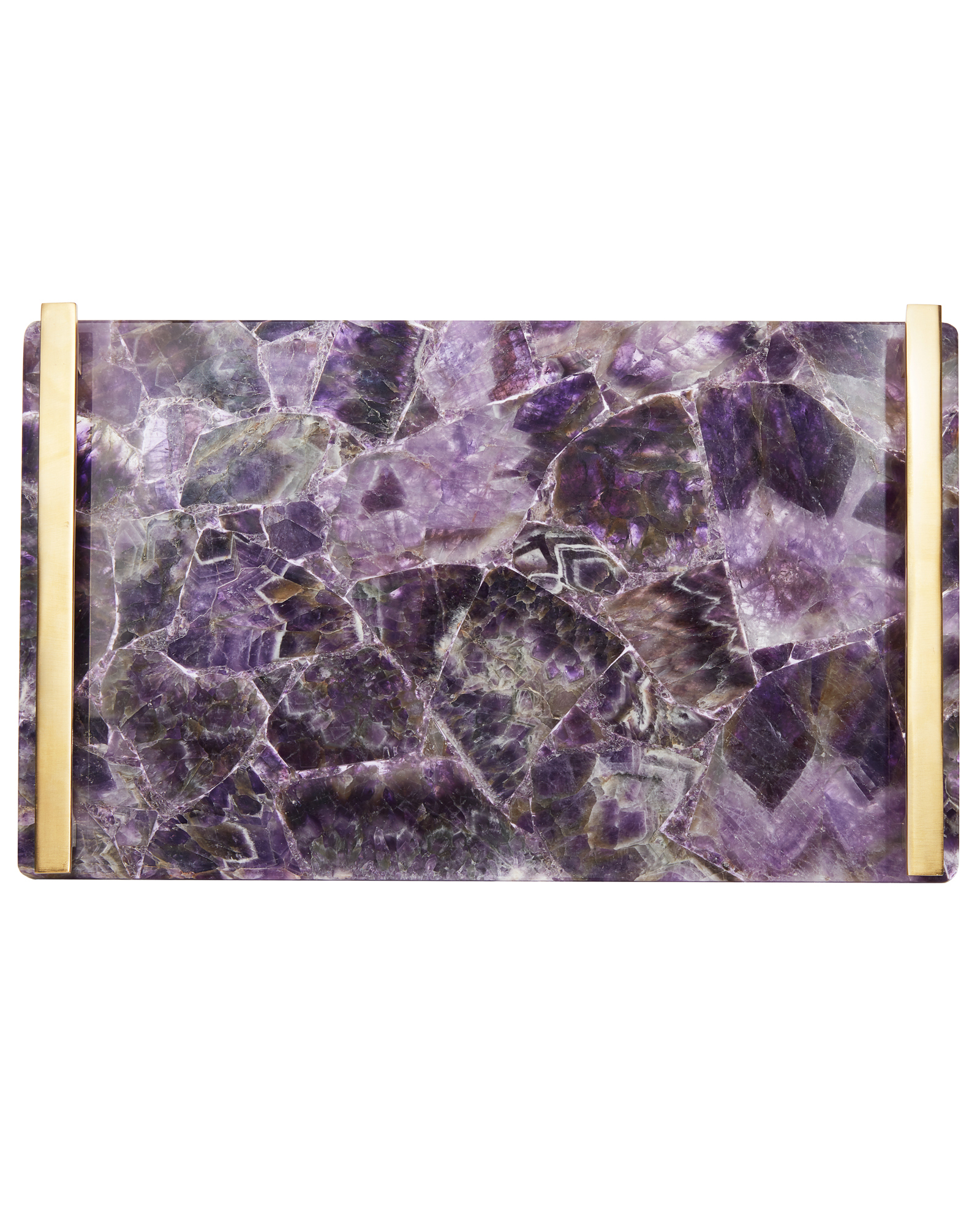 Large Tray in Chevron Amethyst