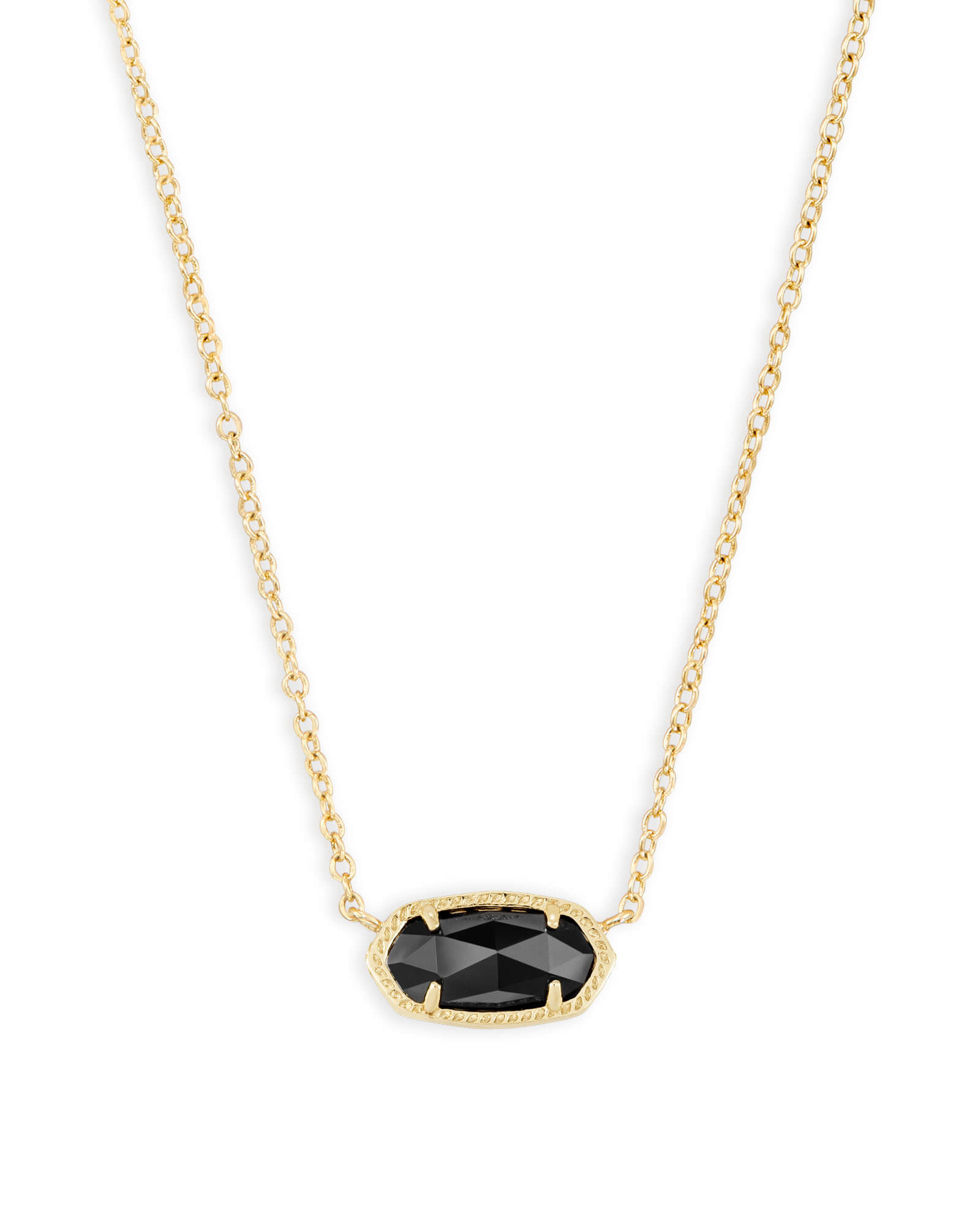 Elisa gold pendant necklace in black kendra scott elisa gold pendant necklace in black aloadofball Image collections