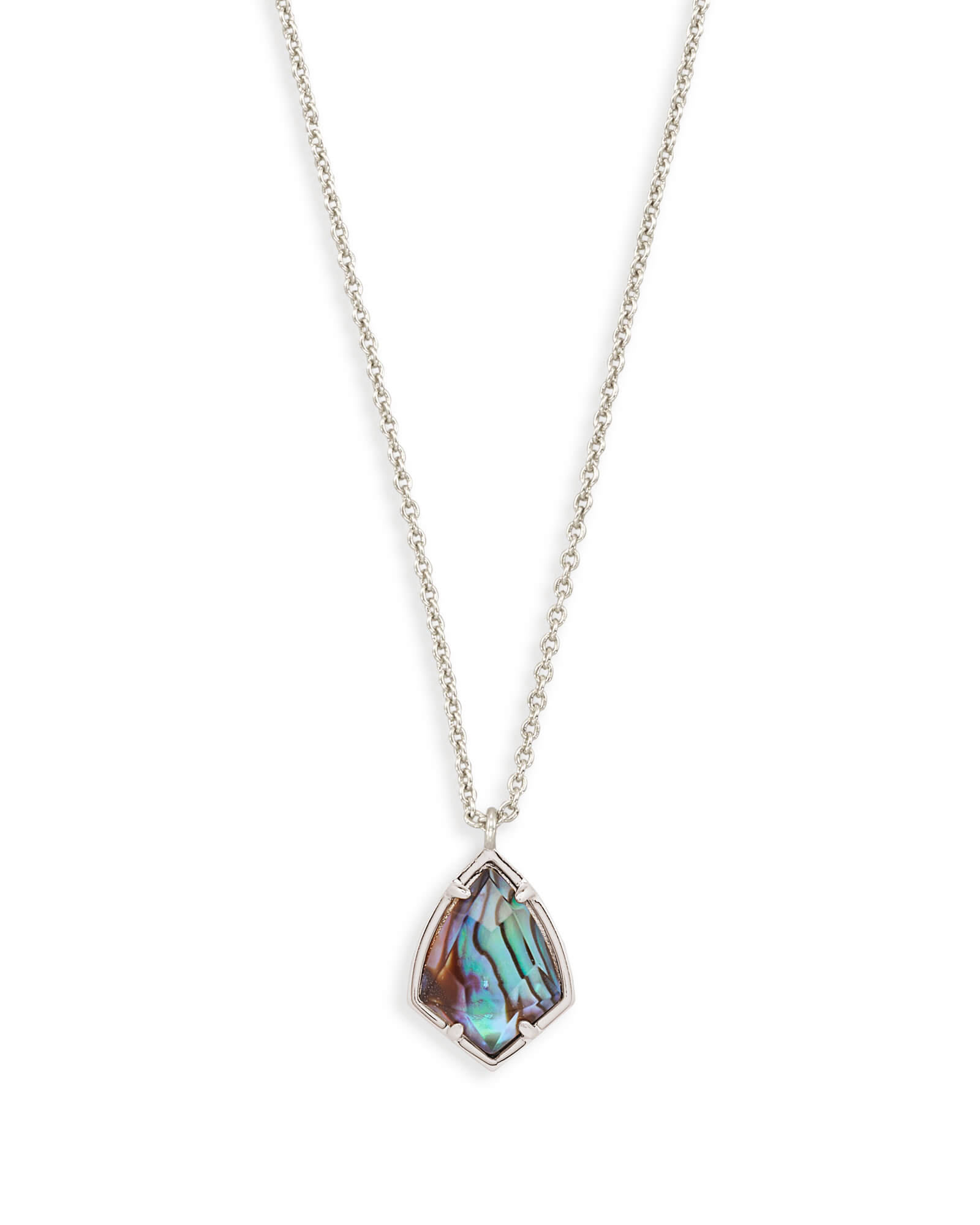 Cory Silver Pendant Necklace in Abalone Shell