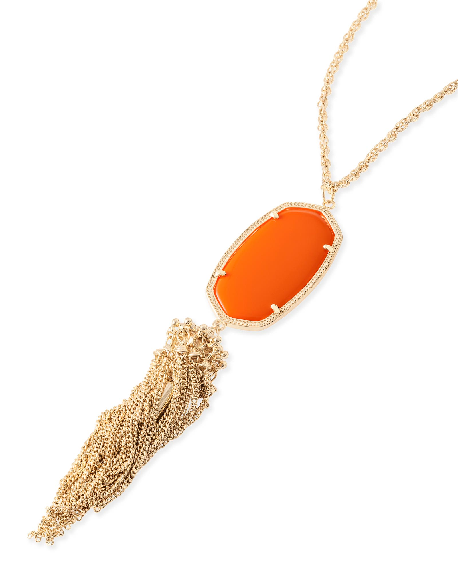 Rayne Necklace in Orange