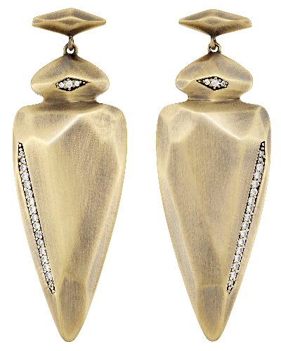 Stellar Earrings in Antique Brass
