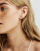 Laurie Ear Climbers in Rose Gold