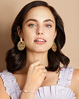 Didi Gold Statement Earrings in Gold Filigree