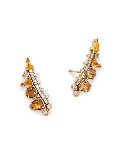 Clarissa Ear Climbers in Gold Mix