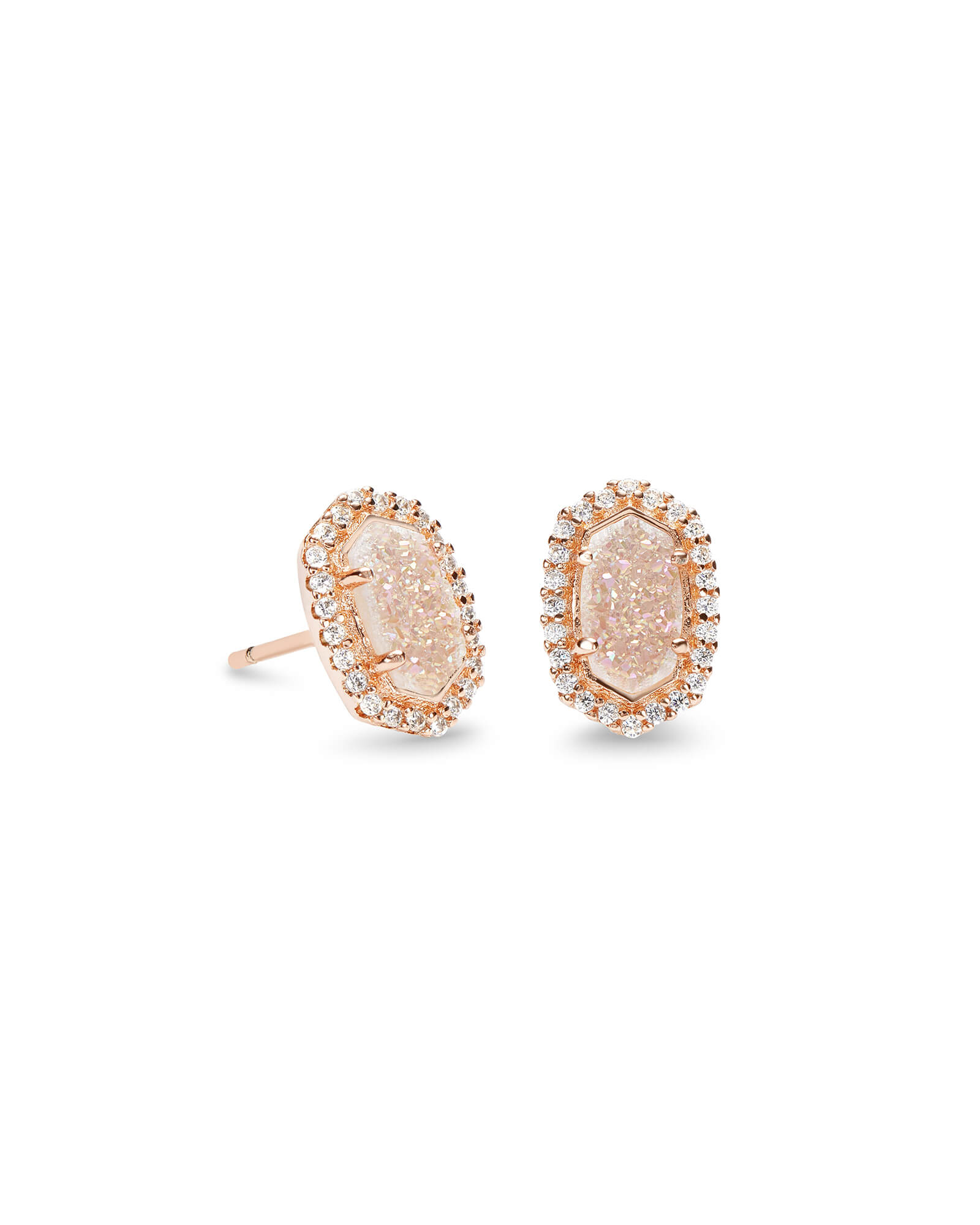 Cade Stud Earrings in Rose Gold