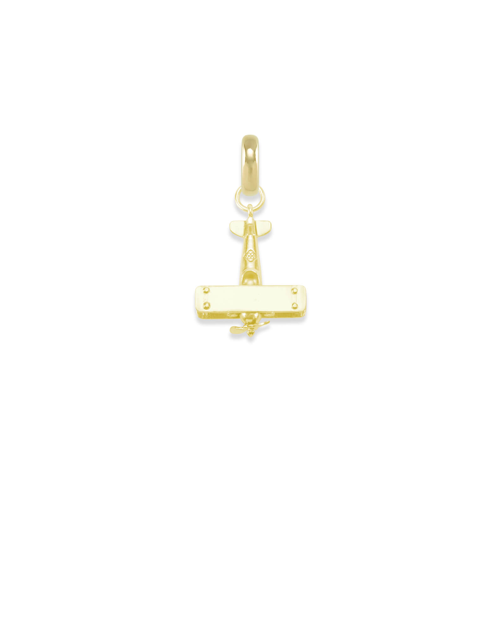 North Carolina Airplane Charm in Gold