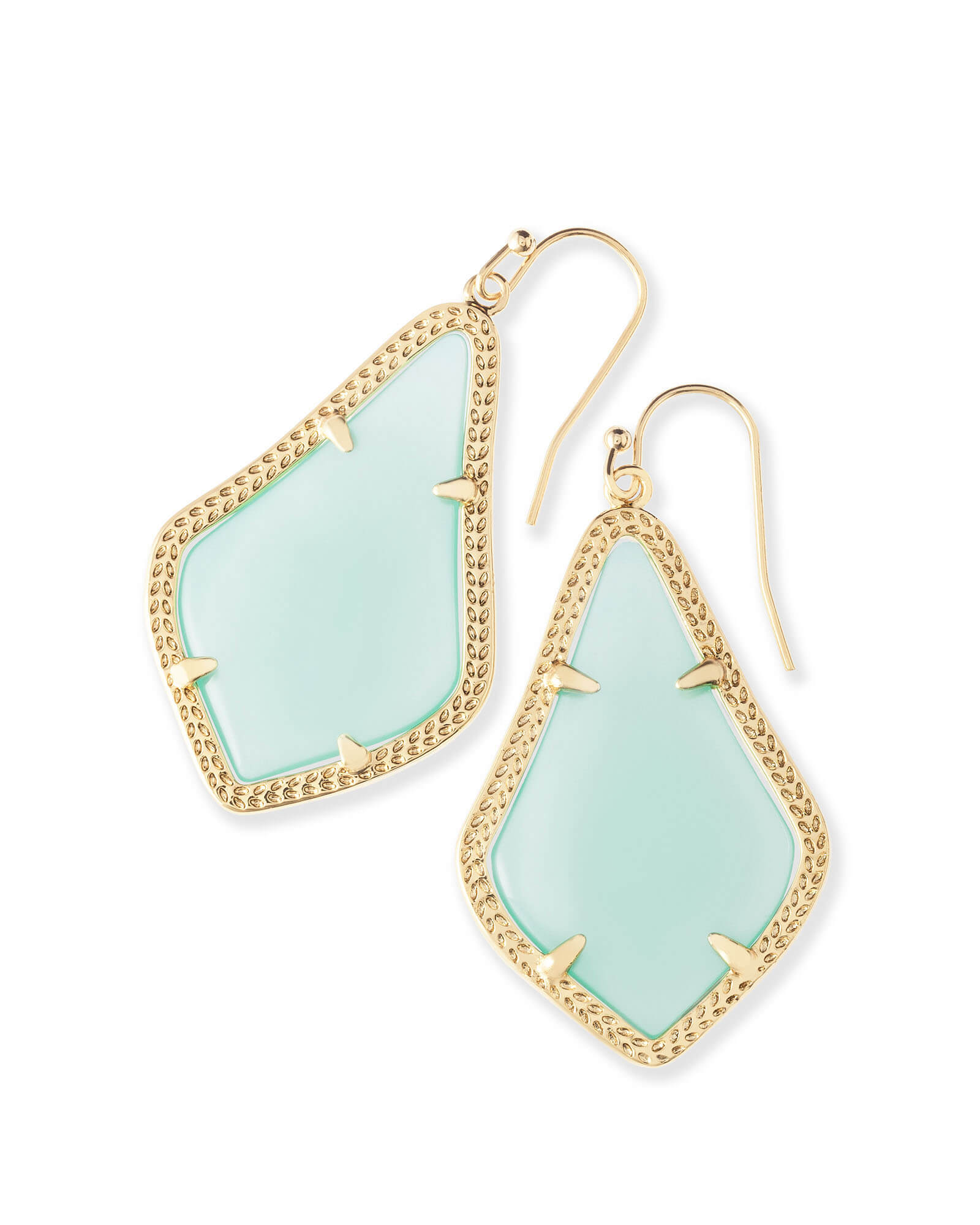 Alex Drop Earrings In Chalcedony