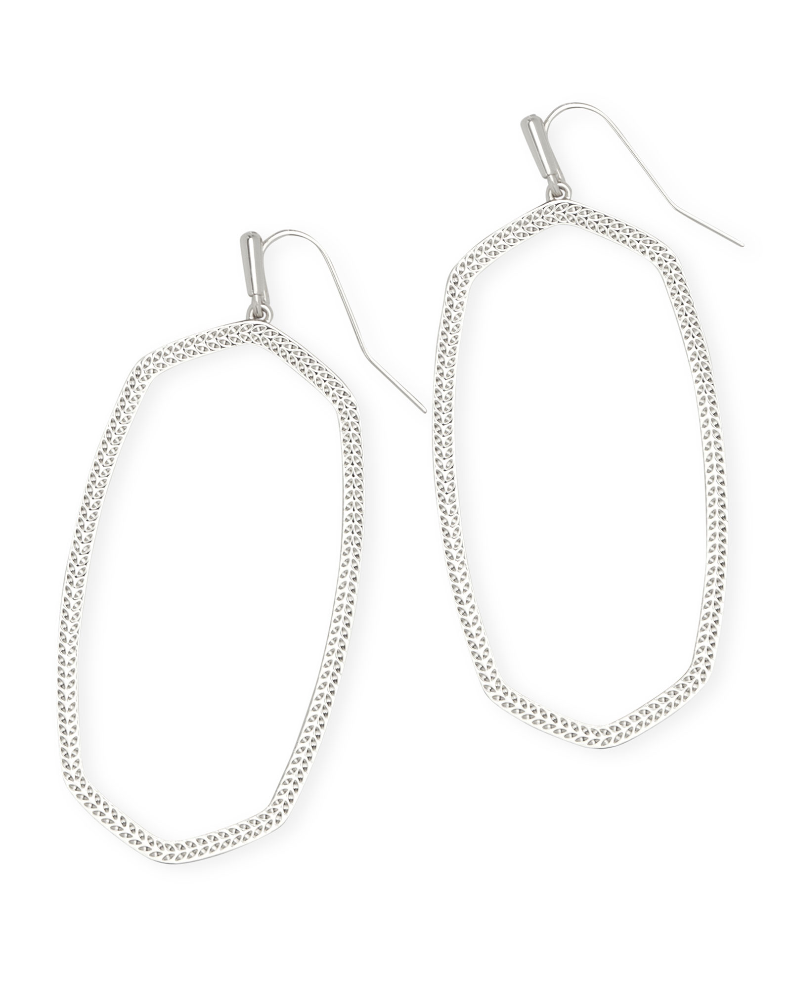 Danielle Open Frame Statement Earrings in Silver