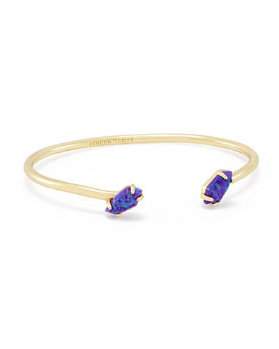 Jackson Pinch Bracelet in Purple Kyocera Opal