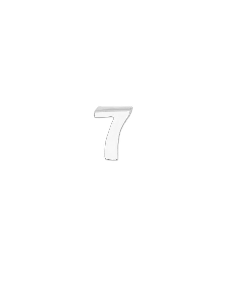 Number 7 Charm - Silver