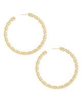 Maggie Hoop Earrings in Gold Filigree