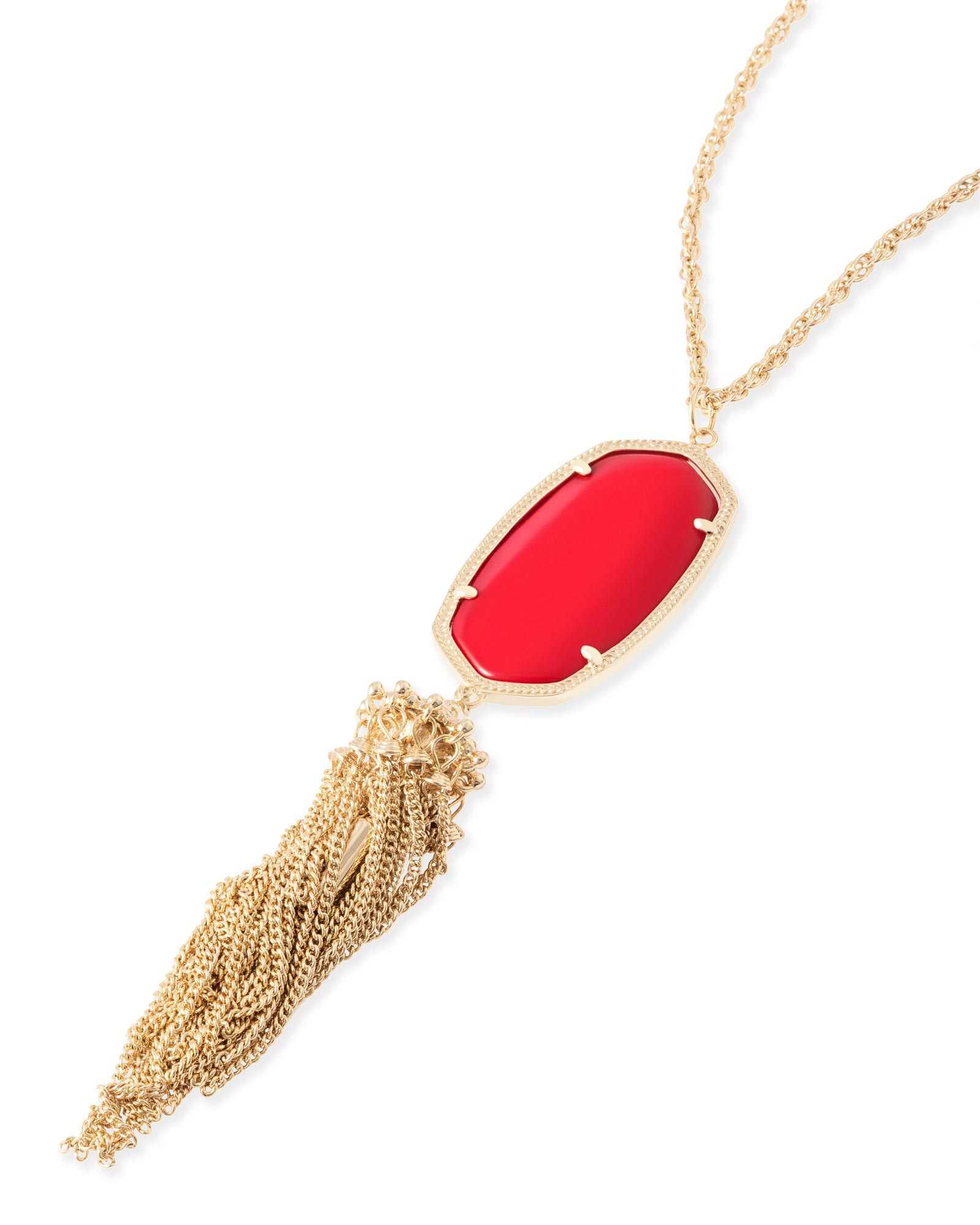 Rayne Necklace in Bright Red