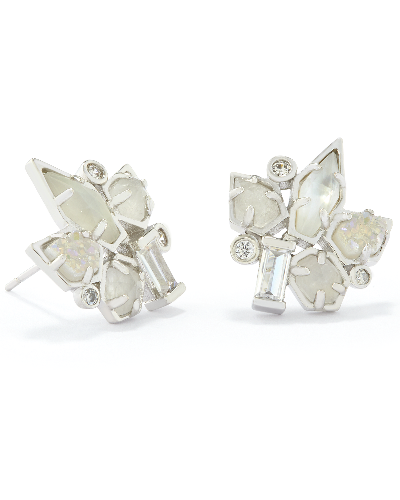 Adella Stud Earrings in Silver
