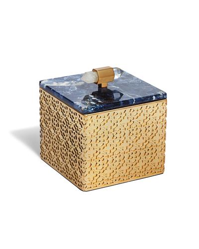 Kendra Scott - Square Filigree Box in Blue Sodalite Photo