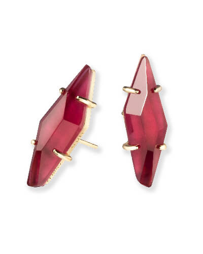Belinda Stud Earrings in Burgundy Illusion