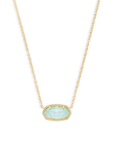 Elisa Pendant Necklace in Chalcedony