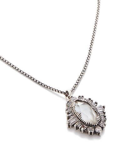 Kay Pendant Necklace in Antique Silver