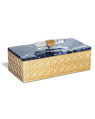 Rectangular Filigree Box in Blue Sodalite
