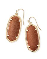 Elle Earrings in Goldstone