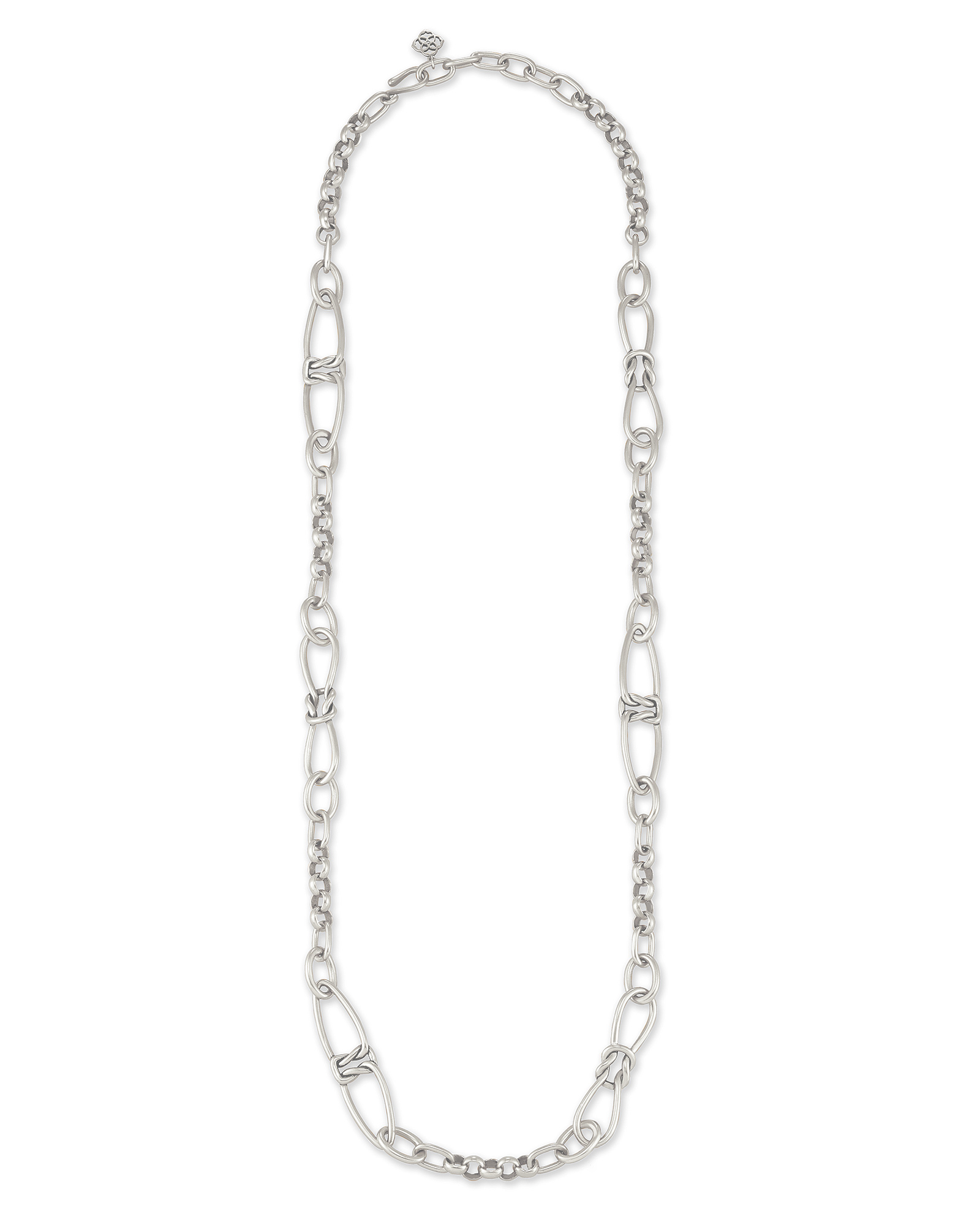 Fallyn Long Strand Necklace In Silver
