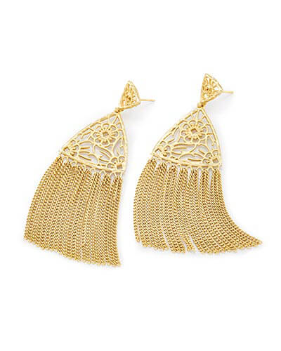 Ana Statement Earrings in Gold