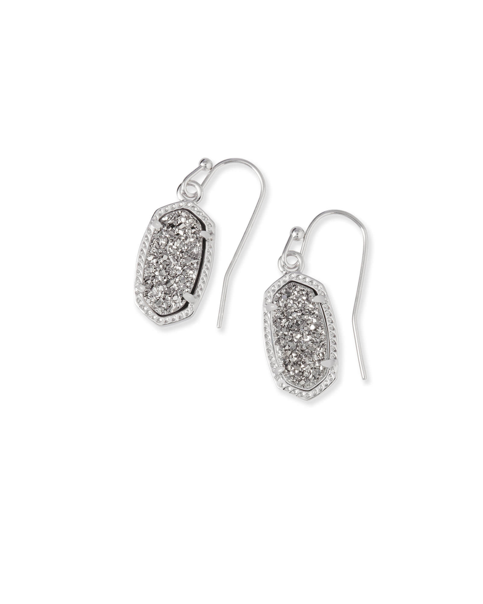 81474244c Lee Silver Drop Earrings in Platinum Drusy | Kendra Scott