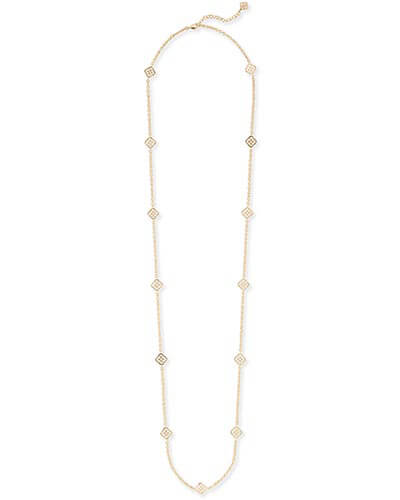 Devalyn Long Necklace in Gold
