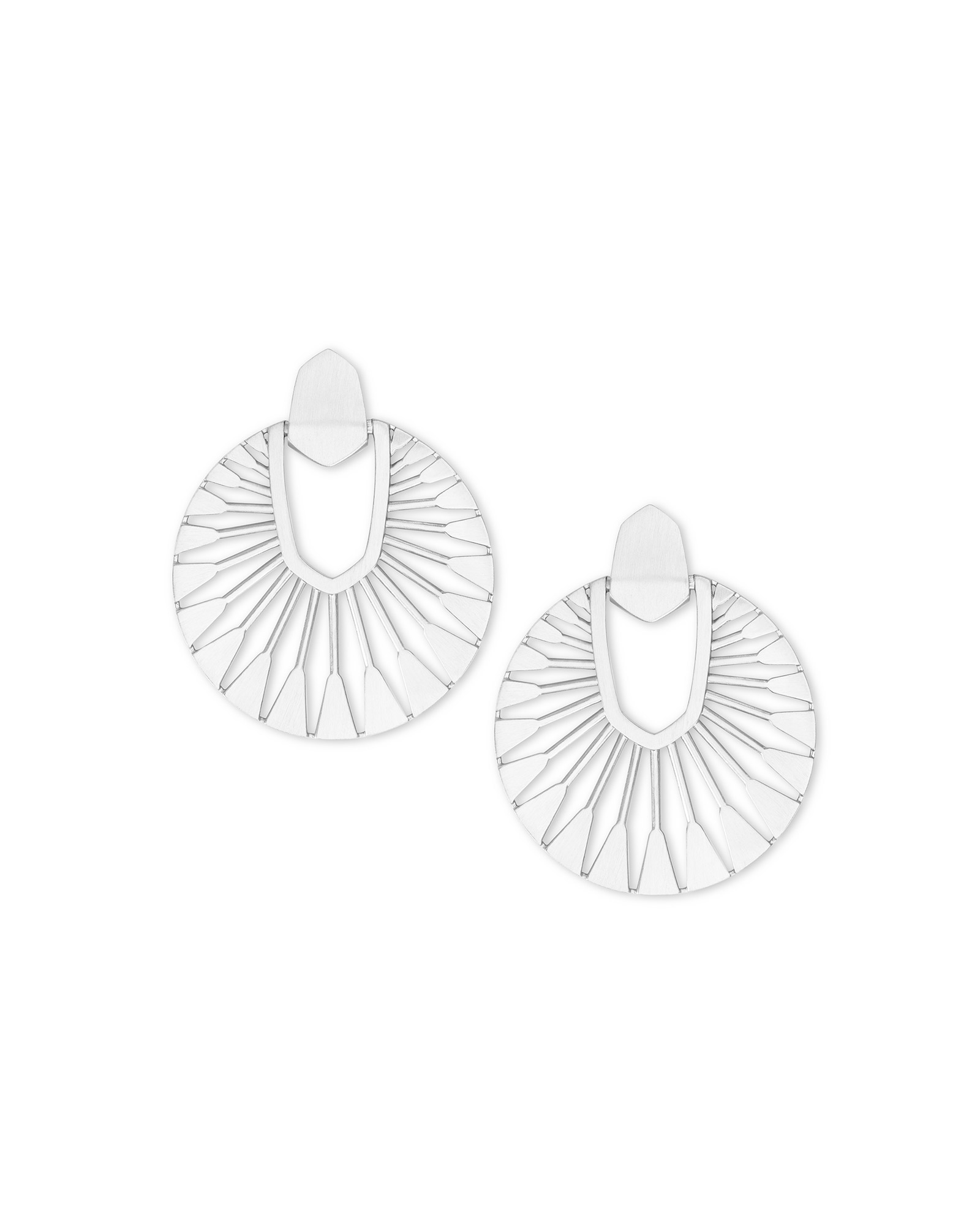 Didi Sunburst Statement Earrings in Bright Silver