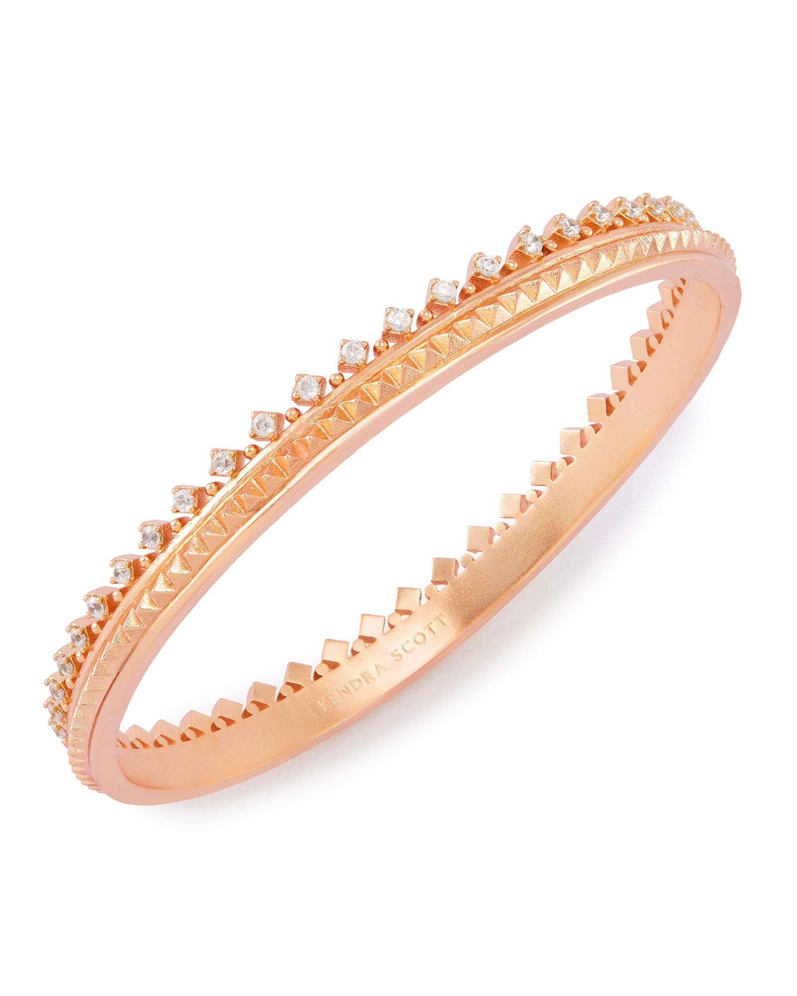 Mary Caroline Bangle Bracelet in Rose Gold