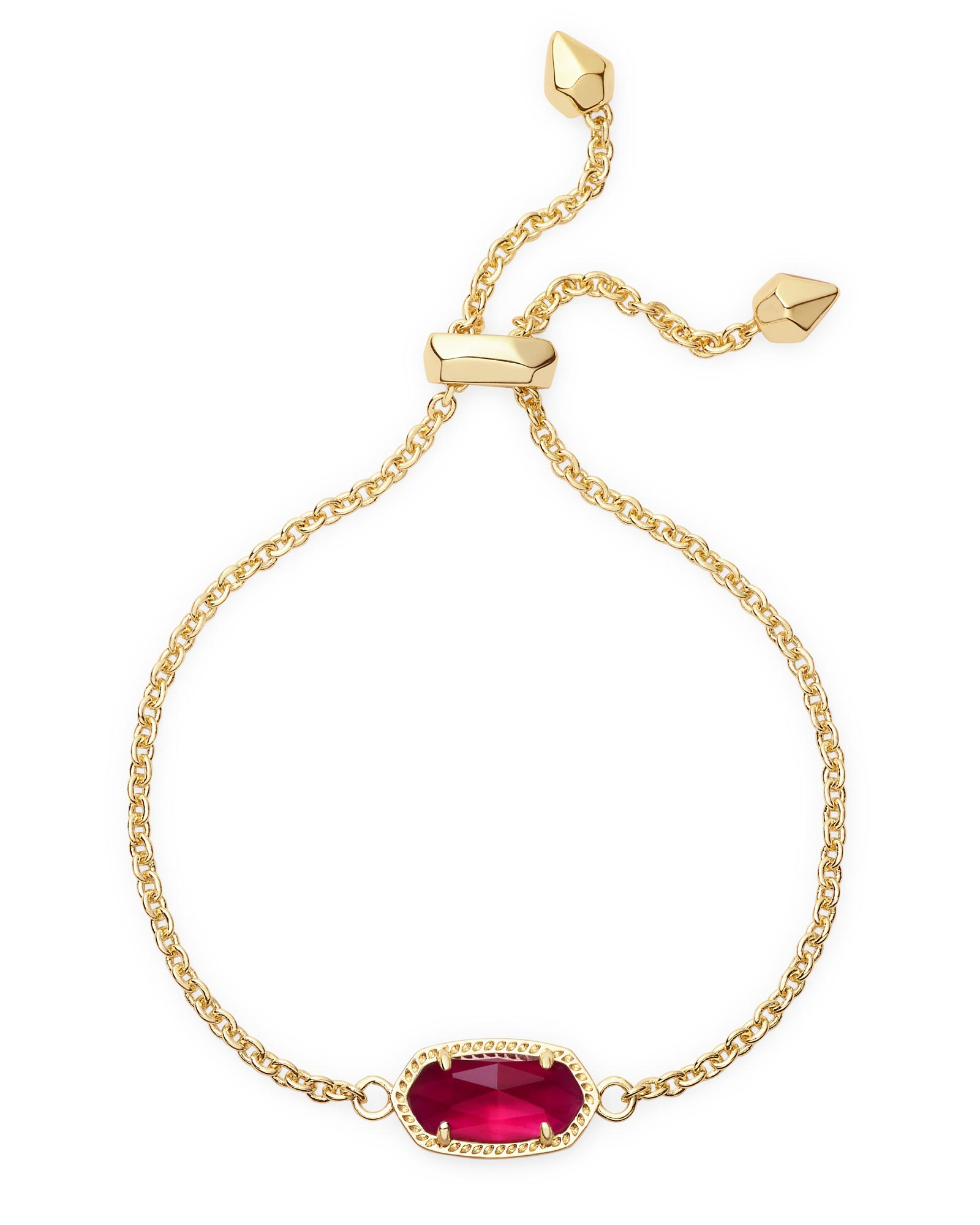 Elaina Adjustable Chain Bracelet in Berry Illusion