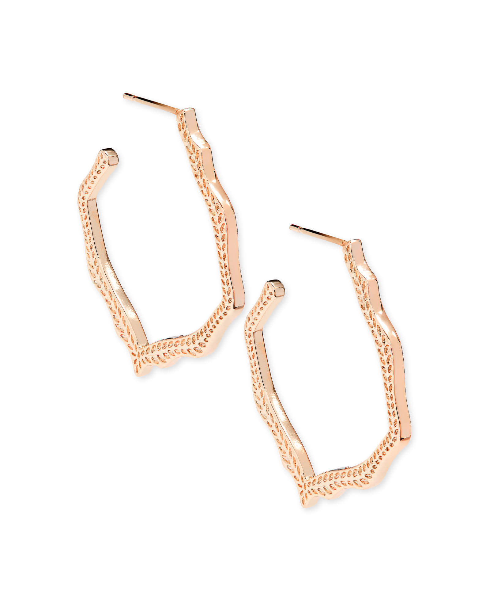 Miku Hoop Earrings in Rose Gold