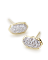 Amelee Pavé Diamond Stud Earrings