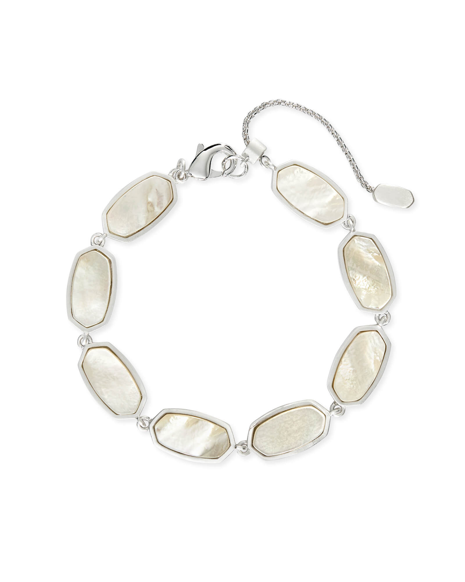 Millie Link Bracelet in Bright Silver