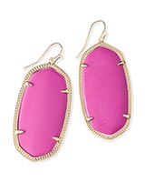 Danielle Earrings in Magenta
