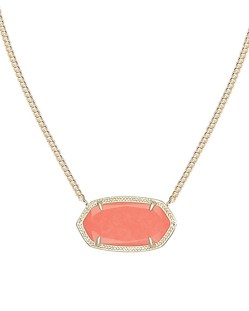 Dylan Pendant Necklace in Coral