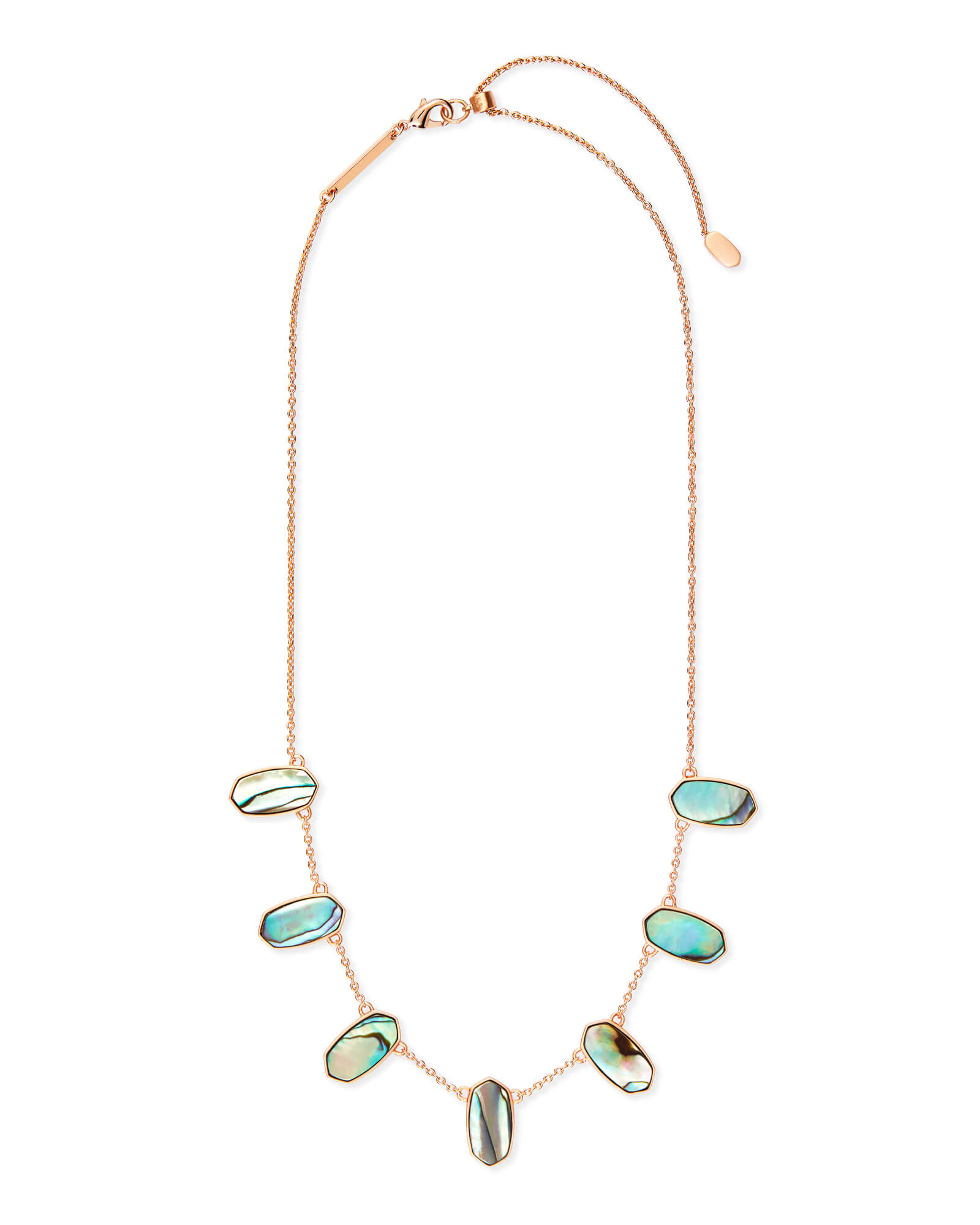 Meadow Rose Gold Collar Necklace in Abalone Shell