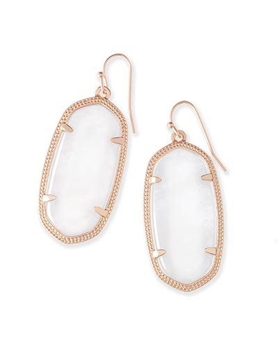 Elle Rose Gold Earrings in Ivory Pearl