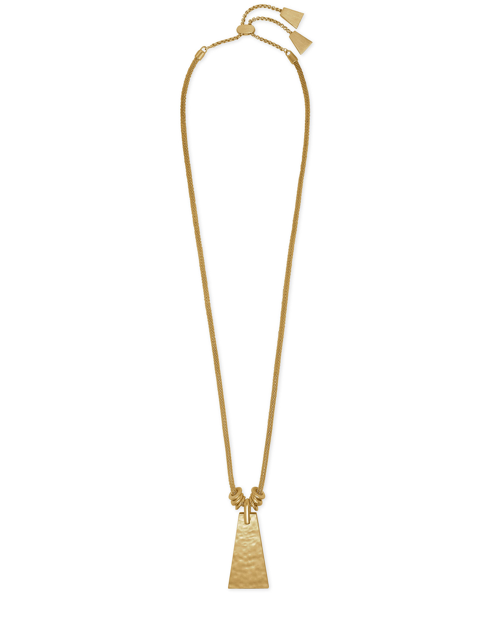Keerti Long Pendant Necklace in Vintage Gold