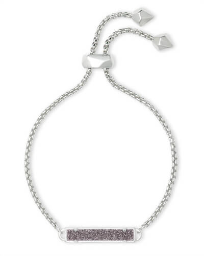 Stan Silver Adjustable Chain Bracelet in Platinum Drusy