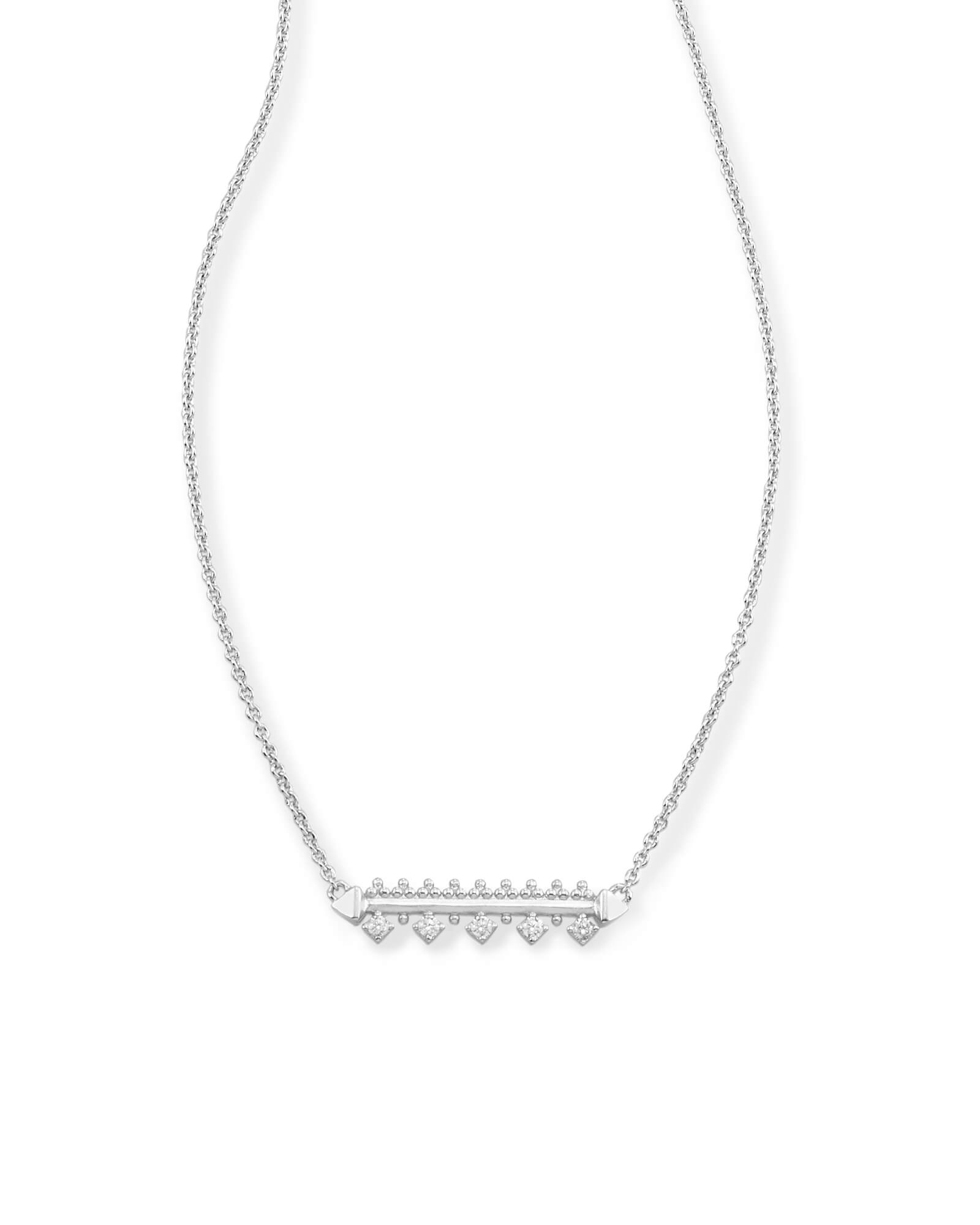 Anissa Bar Pendant Necklace in Silver