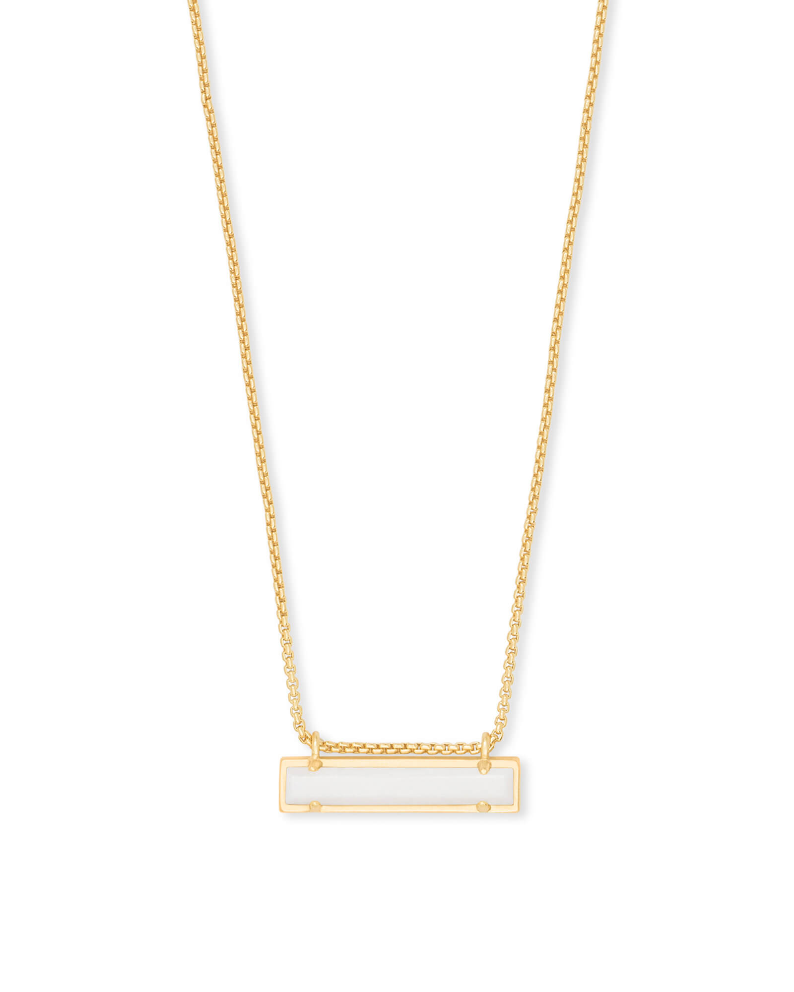 Leanor Gold Pendant Necklace in White Pearl