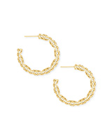 Maggie Small Hoop Earrings in Gold Filigree