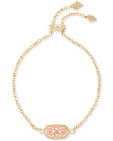 Elaina Gold Adjustable Chain Bracelet in Rose Gold Filigree Mix