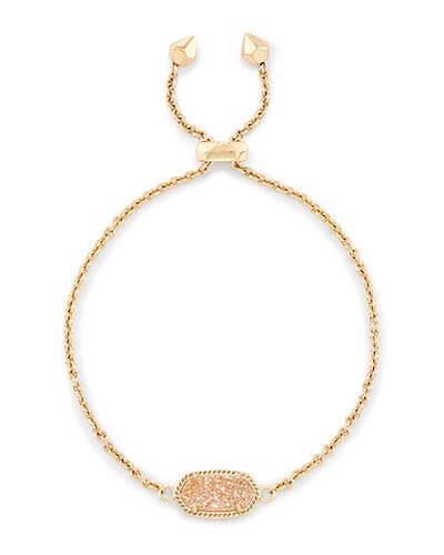 Elaina Adjustable Chain Bracelet in Sand Drusy