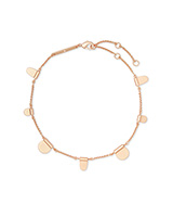 Tabi Anklet in Rose Gold