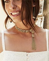 Heidi Choker Necklace in Antique Silver