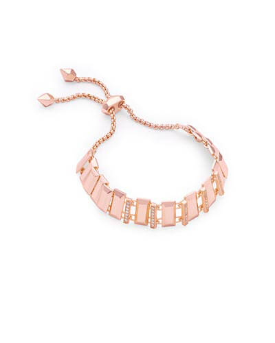 Harp Adjustable Chain Bracelet in Rose Gold