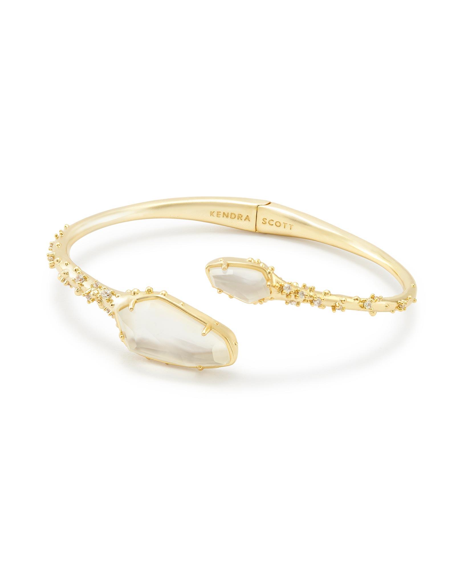 Zander Hinge Cuff Bracelet In Gold