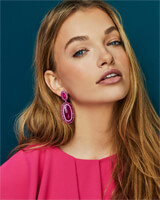 Kaki Statement Earrings in Matte