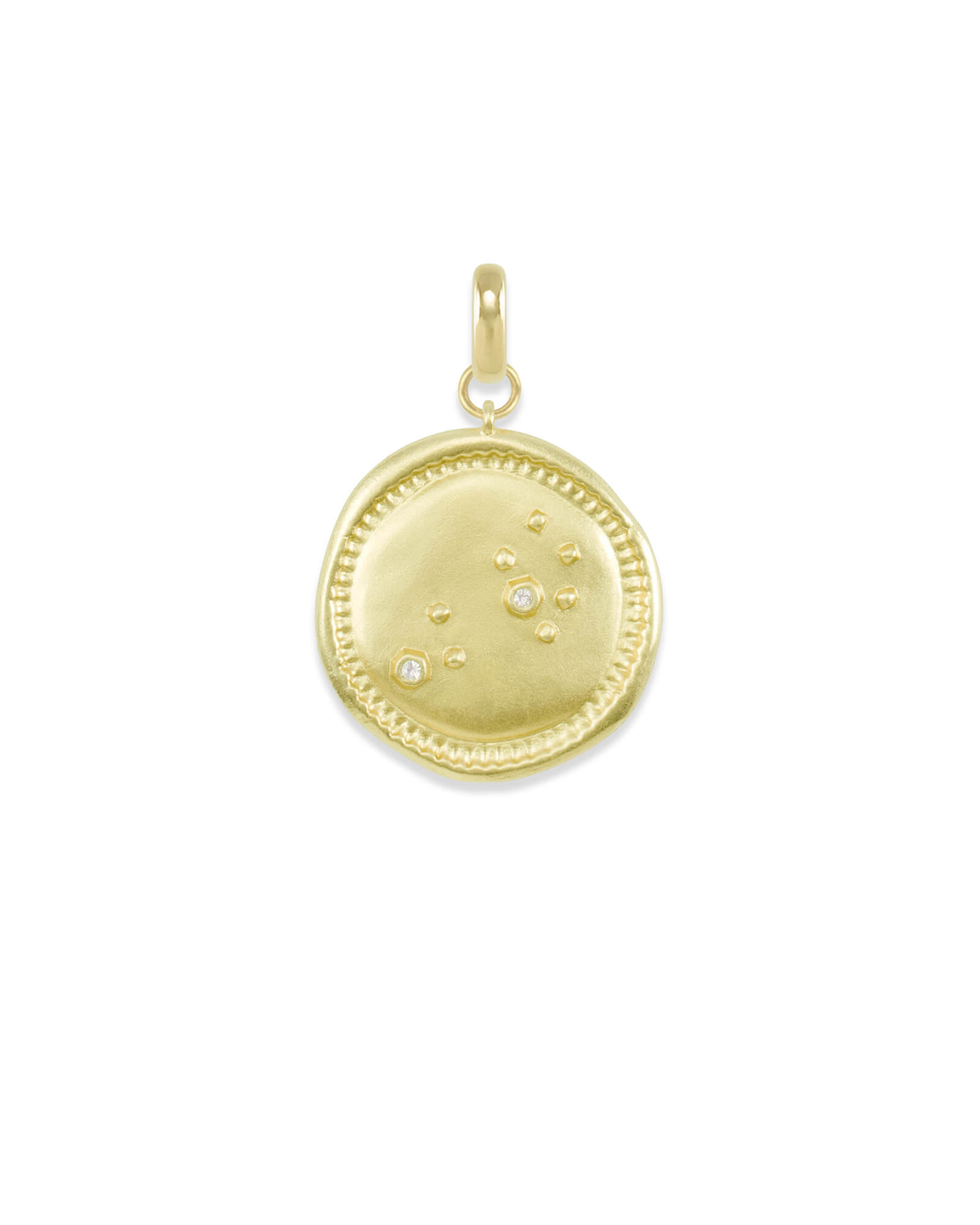 Leo Large Coin Charm